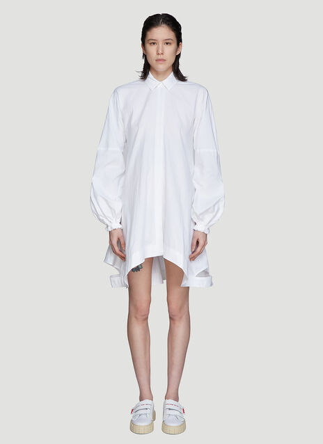 JW Anderson Button-Down Puff Sleeve Dress