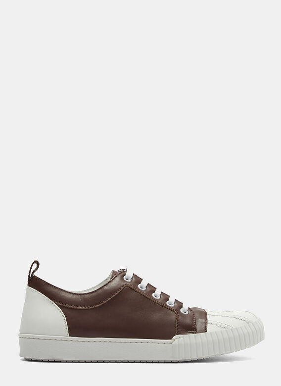 Marni Two-Tone Shell Toe Leather Sneakers