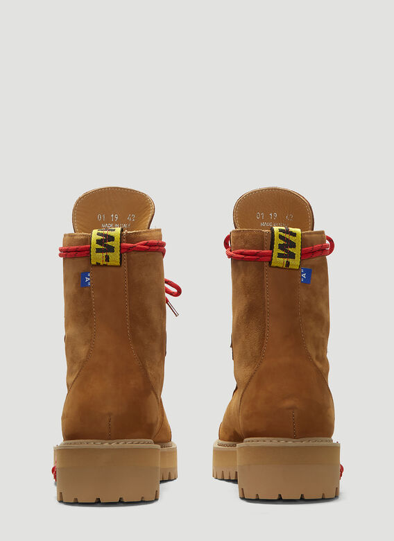57118520a806b Off-White Hiking Boots in Brown   LN-CC