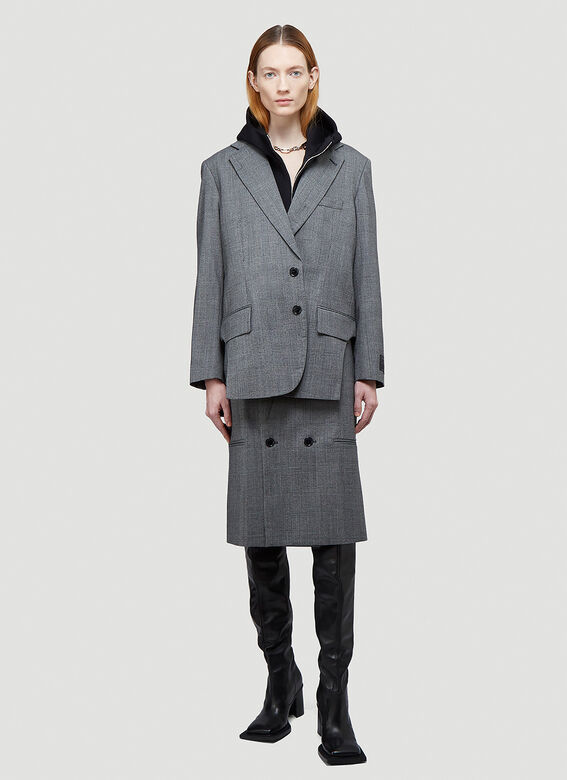 Vetements CUT-OUT TAILORED JACKET 2