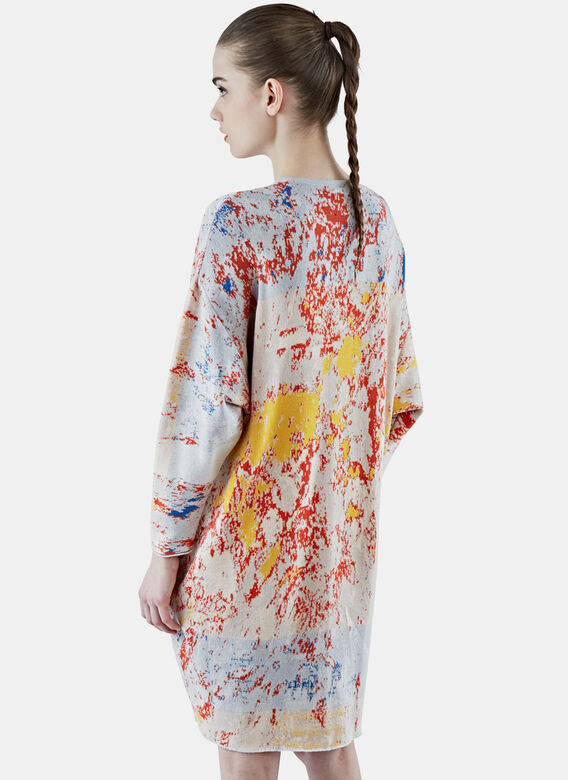 Anntian Oversized Jacquard Knit Dress