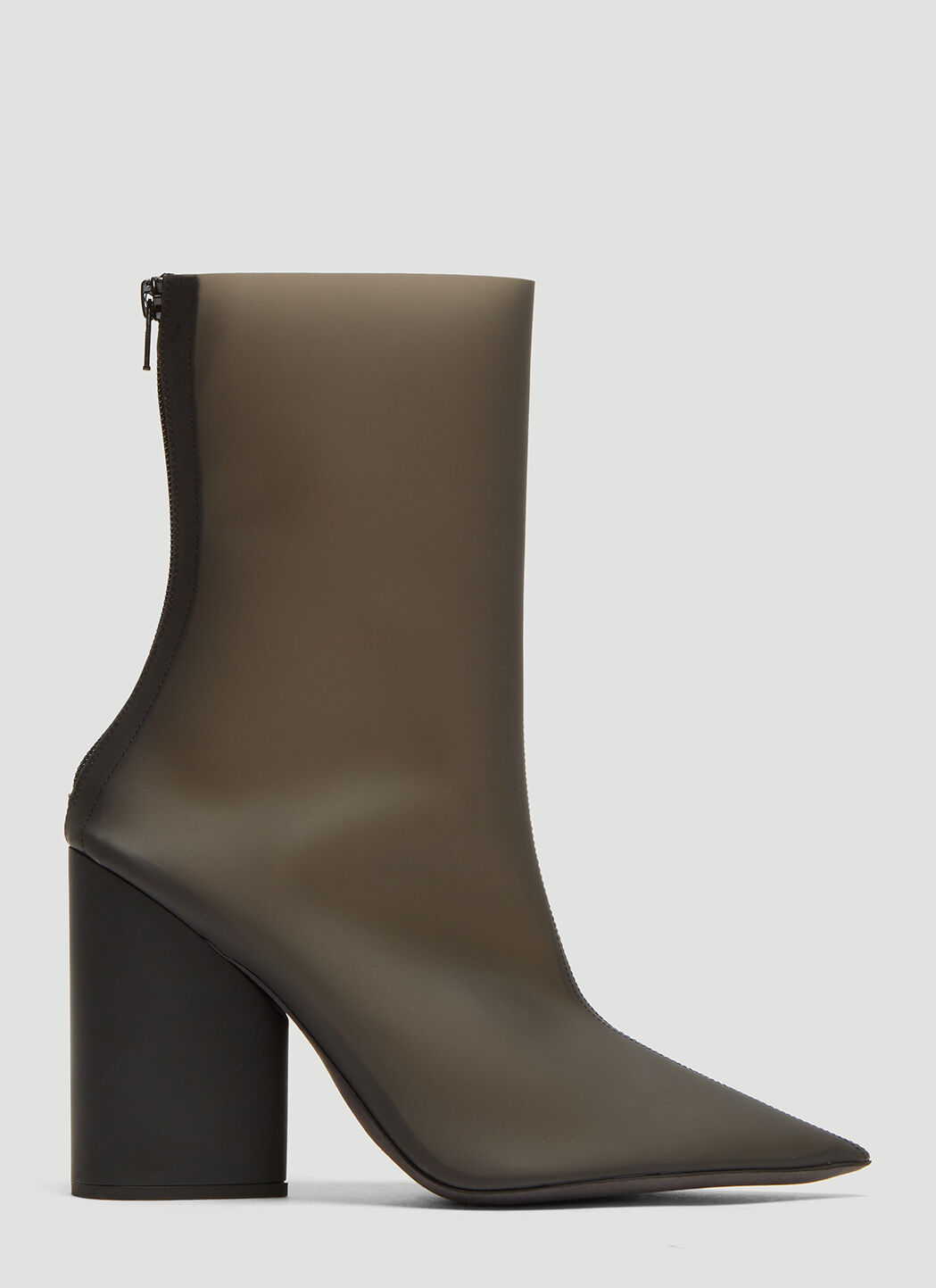 Yeezy Semi Opaque PVC Ankle Boots in Black