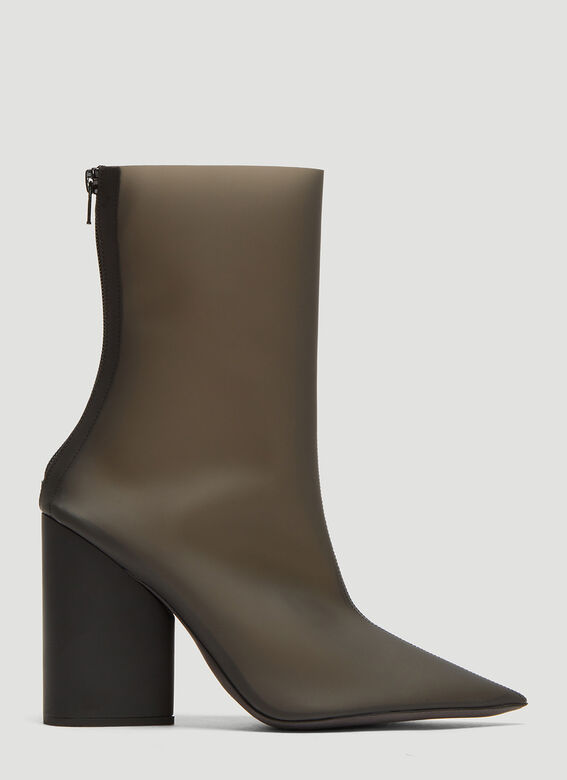 the best attitude 1f4eb 5685b Yeezy Semi Opaque PVC Ankle Boots in Black | LN-CC