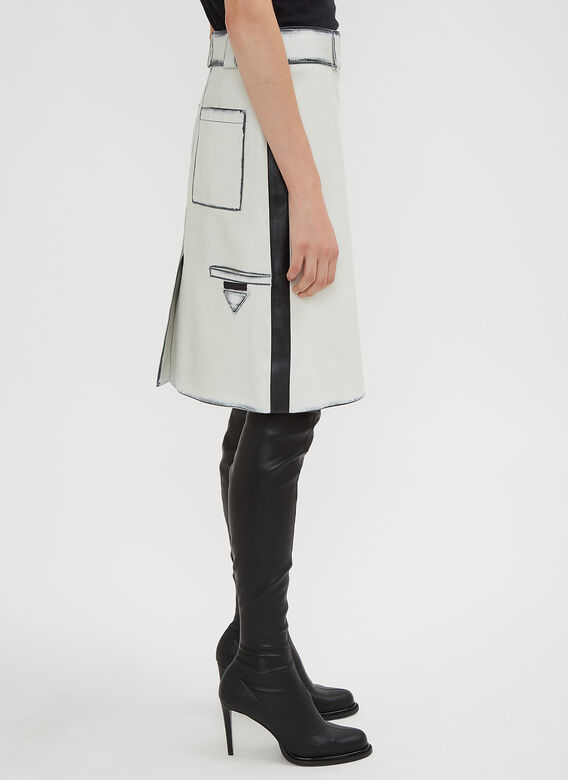 Prada Leather Wrap Skirt