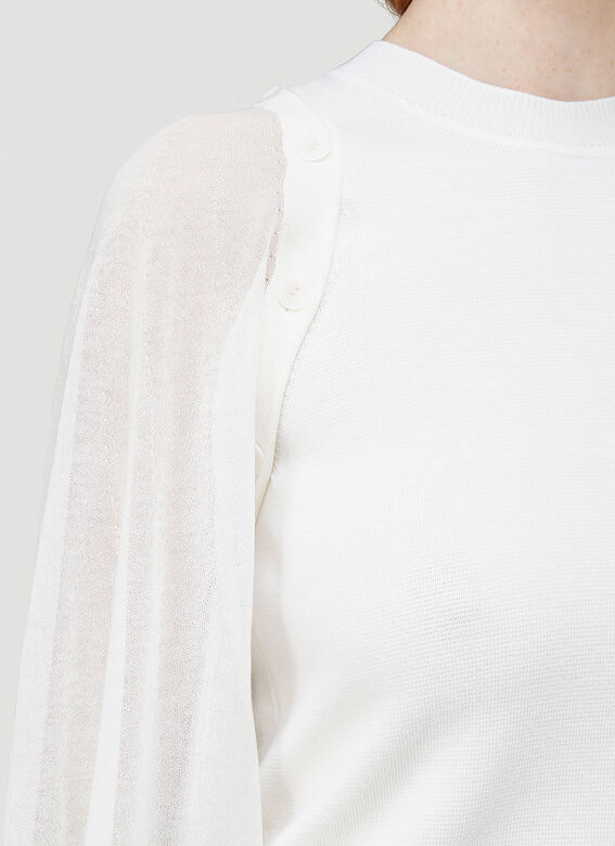 JW Anderson DETACHABLE SHEER SLEEVE FITTED TOP 5