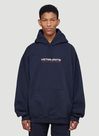 Vetements Haute Couture Hooded Sweatshirt