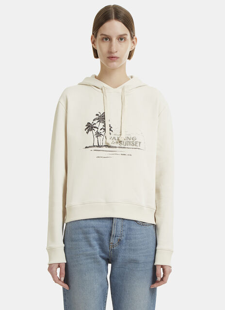 Saint Laurent Hooded Palm Tree Sweater