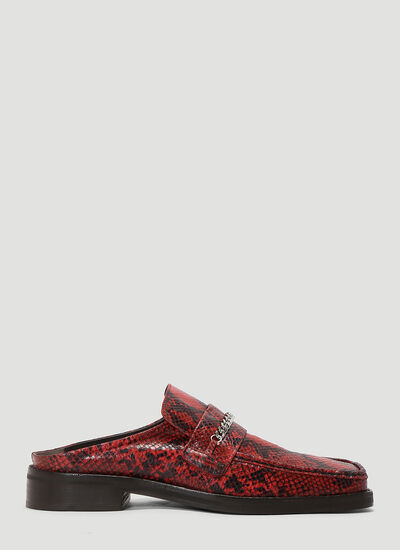 Martine Rose Loafer Embossed Mules