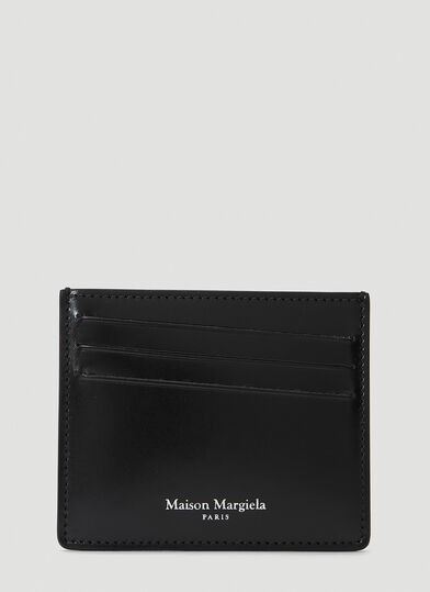 메종 마르지엘라 Maison Margiela Four-Stitch Card Holder in Black