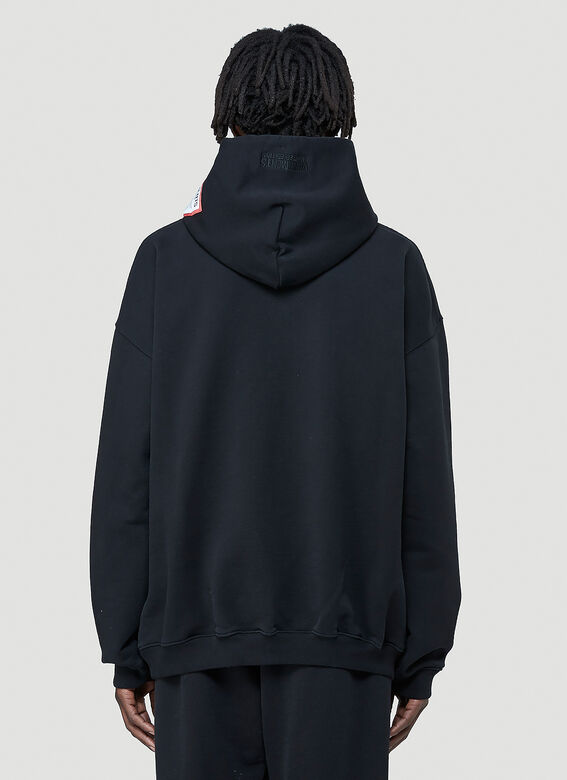 Vetements Logo-Patch Hooded Sweatshirt 4