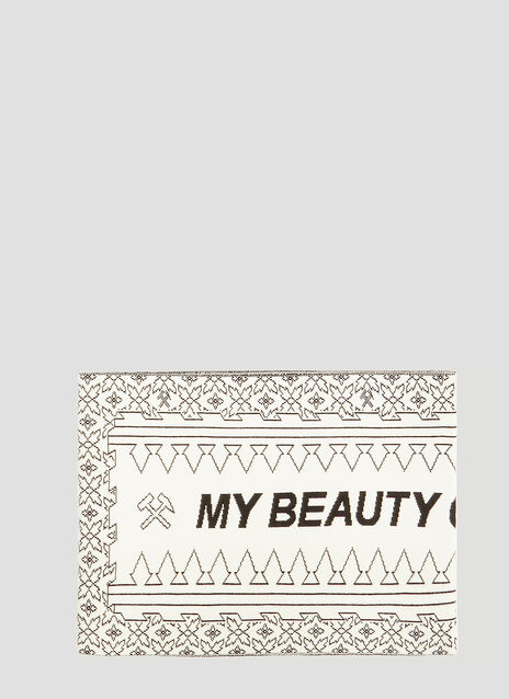 GmbH My Beauty Offends You Intarsia Knit Scarf