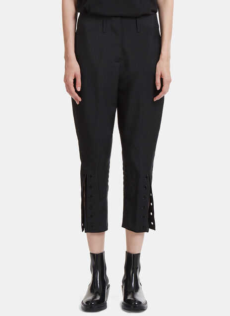Riveted Split Cuff Cropped Pants