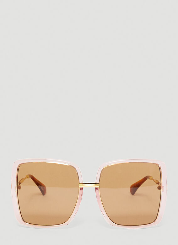 Gucci GG0903S WOMAN SUNGL - pink gold brown 1