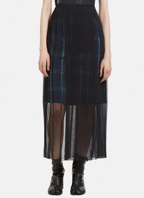 Facetasm Layered Check Skirt