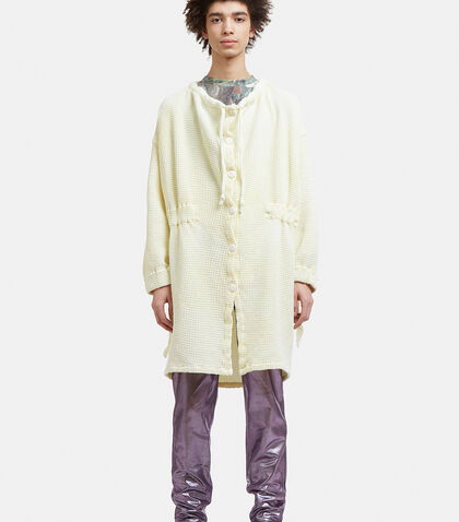 ANNTIAN Summer Waffle Jacket In Yellow