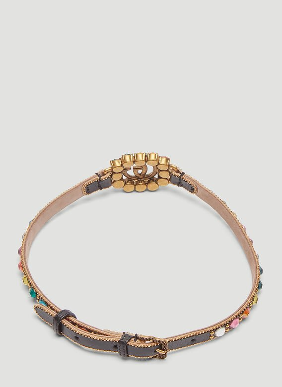 Gucci Double G Leather Choker