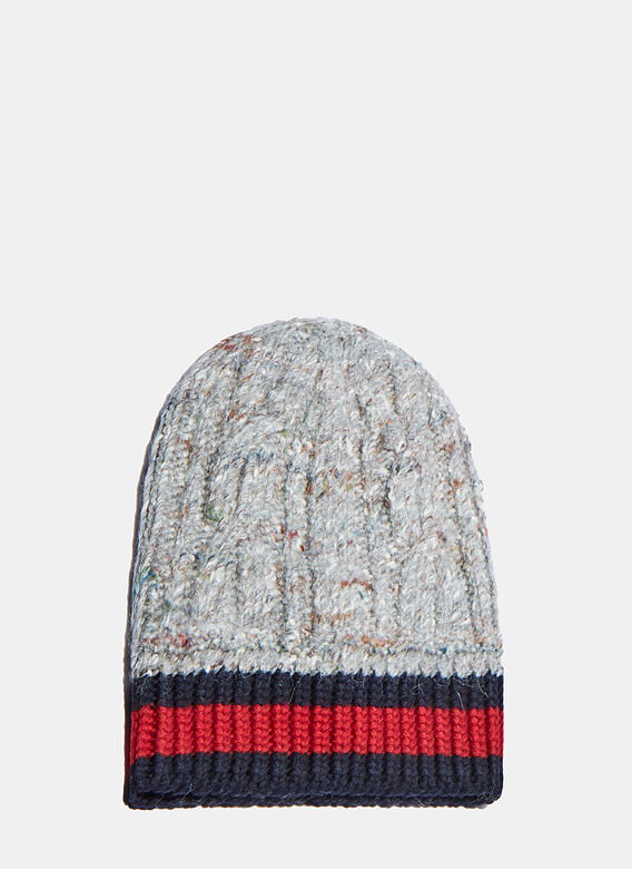 6ebb5db25663 Men s Oversized Cable Knit Beanie in Grey