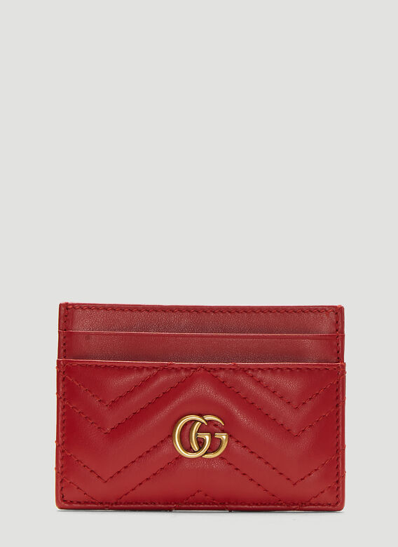 3ba87190e Gucci GG Marmont Card Holder in Red | LN-CC