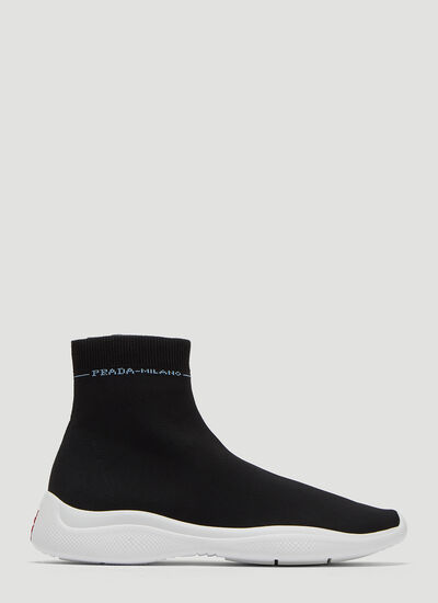 Prada High Top Sock Sneakers