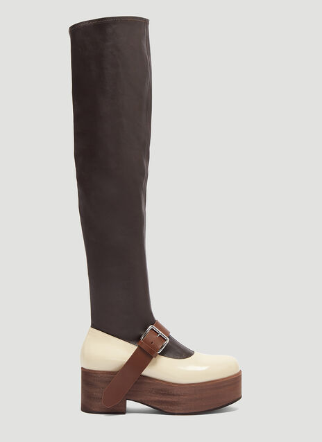 Marni Mary Jane Sock Boot