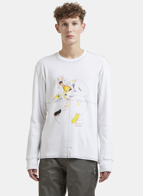 Lapped Graphic Patchwork Sweater