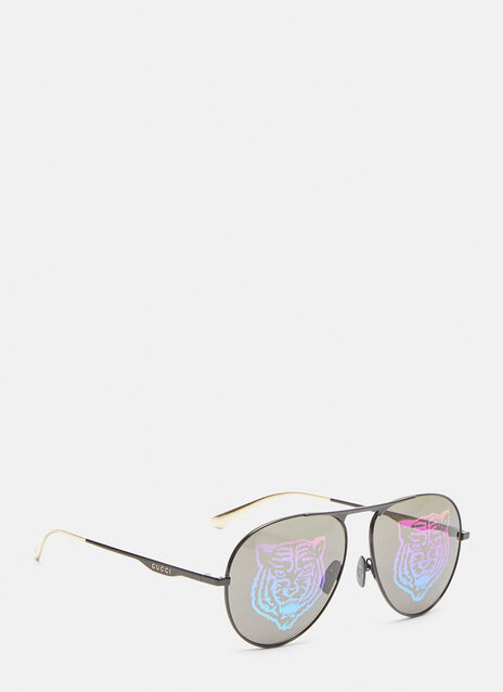 Gucci Aviator Tiger Glasses