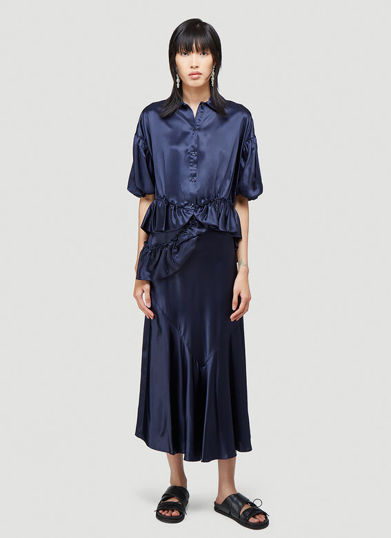 Simone Rocha BIAS SKIRT WITH TWISTED SIDE FRILL 2