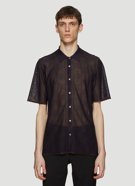 Missoni Sheer Button Front Polo Shirt