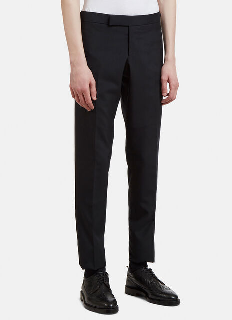 Thom Browne Skinny Leg Striped Uniform Pants