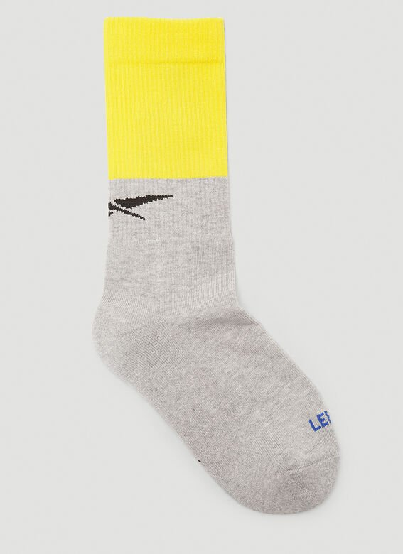 Vetements DHL CUT-UP LOGO SOCKS 2