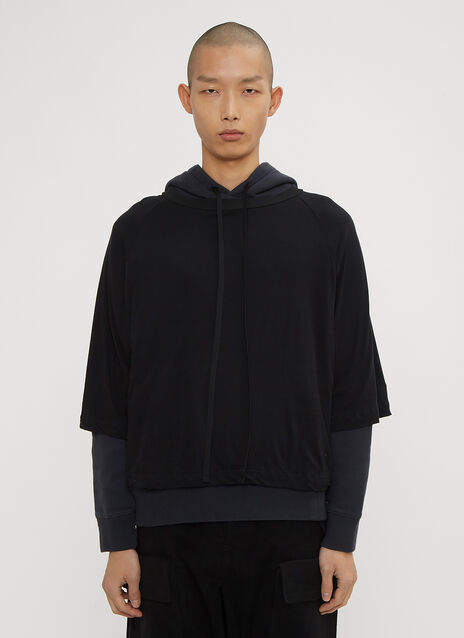 Unravel Project Hooded Layered T Sweater