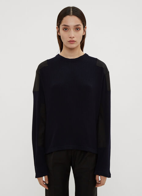 Atlein Military Ribbed Knit Sweater