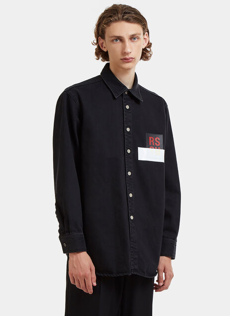 RS Leather Patch Denim Shirt