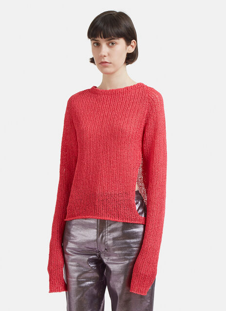 Eckhaus Latta Open Raglan Knit Sweater
