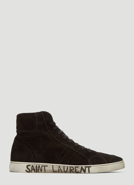 Saint Laurent Joe High-Top Suede Sneakers