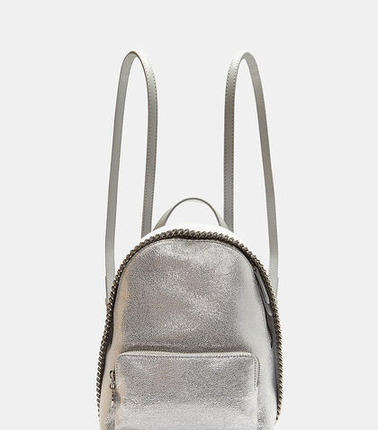 Falabella Metallic Faux Chamois Backpack