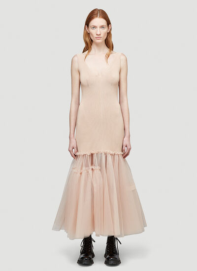 Alexander Mcqueen Tulle-Hem Dress