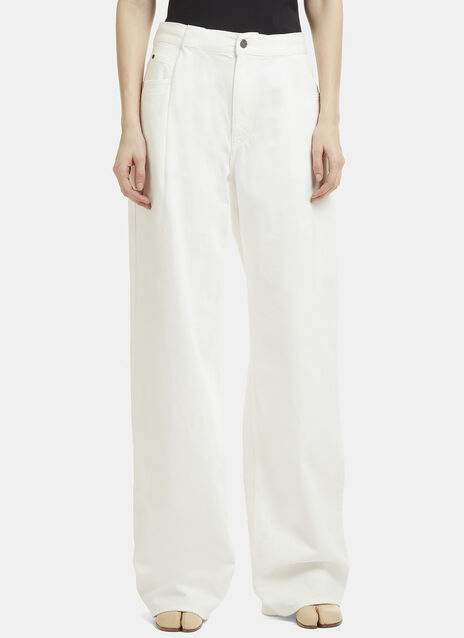Maison Margiela Pleated Flared Jeans