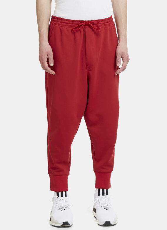 75f73e8cf Y3 Three Stripe Cropped Track Pants in Red | LN-CC