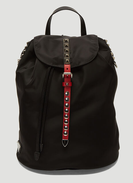 Prada Nylon Stud Backpack