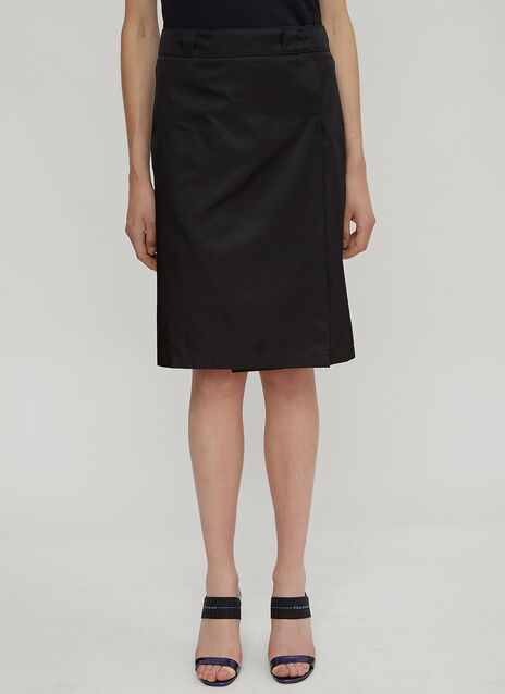 Prada Nylon Asymmetrical Split Skirt