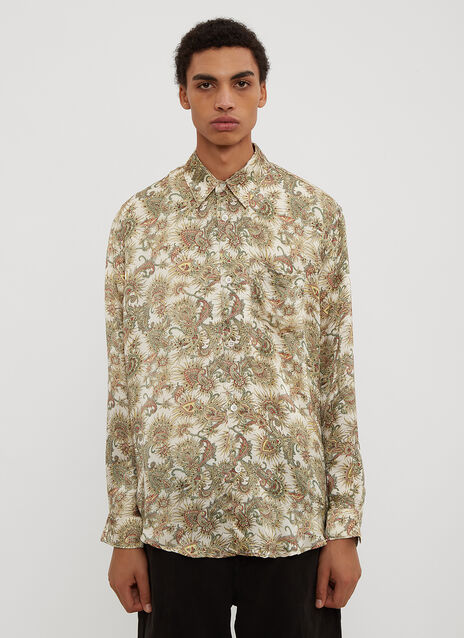 Our Legacy  Initial White Plants Print Shirt