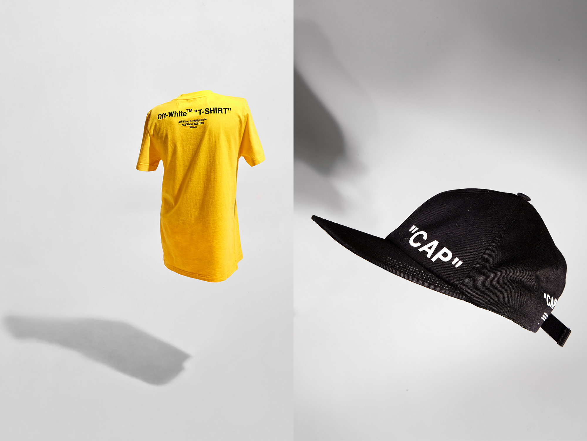 Yellow Off-White t-shirt and cap