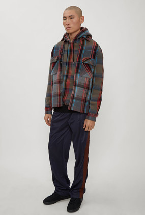Hooded Check Print Sweater