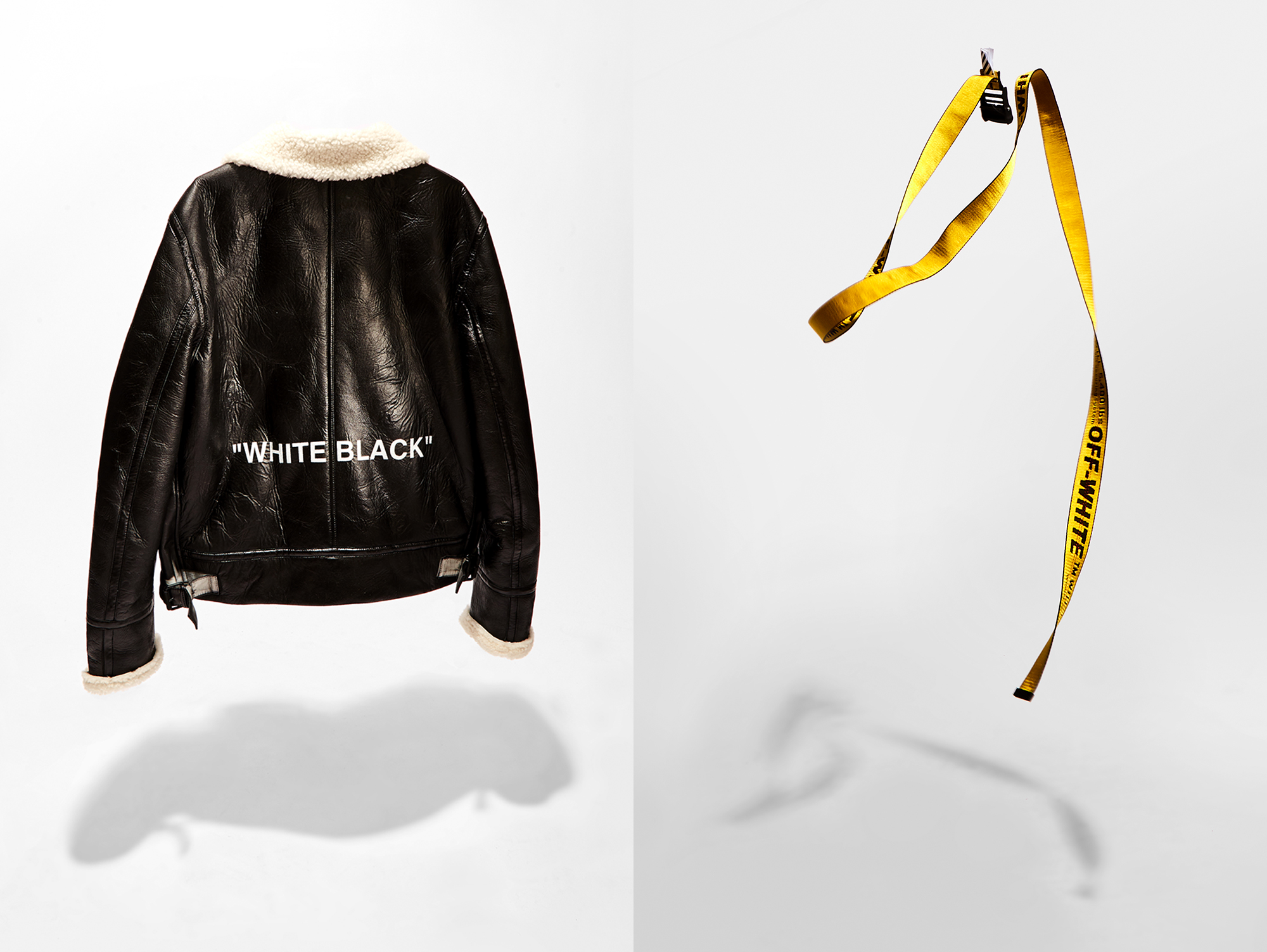 Off-White leather jacket and belt