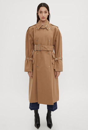 Hardware Trench Coat in Brown