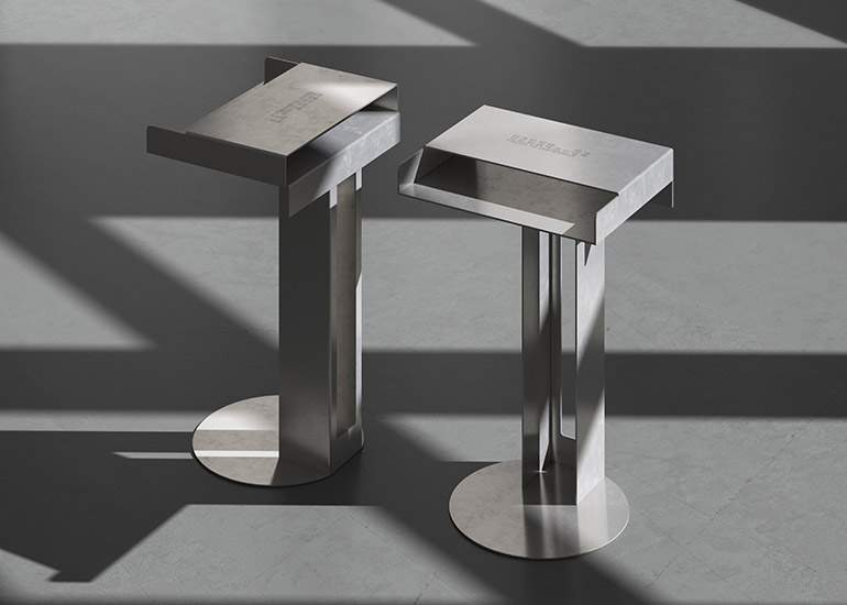 LN-CC AW18 New Tendency clean metal side table
